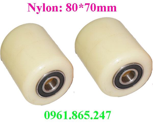 Bánh xe nâng tay nylon 80x70mm