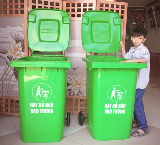 Thùng rác công cộng 240 lít giá rẻ