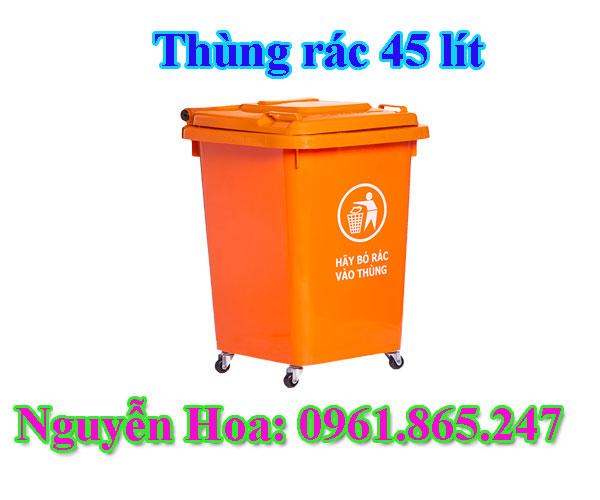 Thùng rác công cộng 45 lít