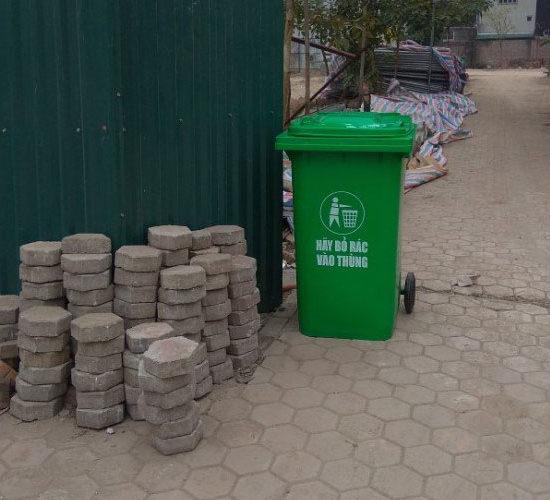 Thùng rác ngoài trời 240l giá rẻ