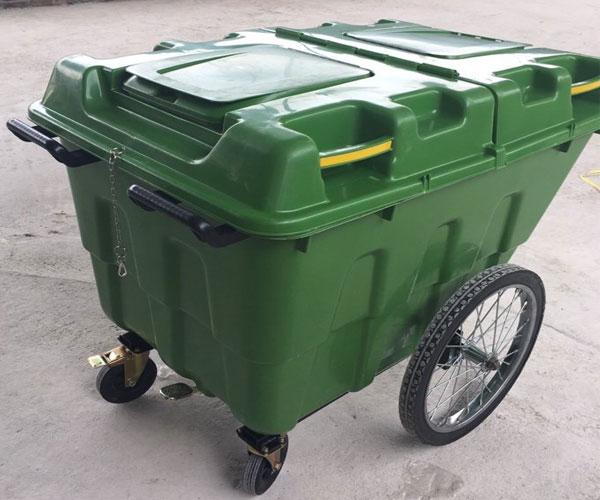 Xe đẩy rác nhựa 400l giá rẻ