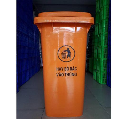 Thùng rác màu cam nhập khẩu