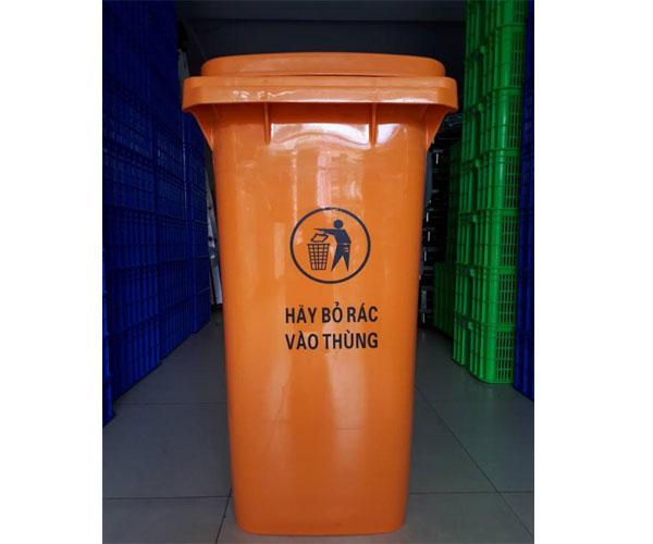 Thùng rác màu cam giá rẻ