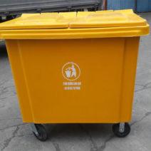 Thùng rác nhựa y tế 660 lít giá bao nhiêu