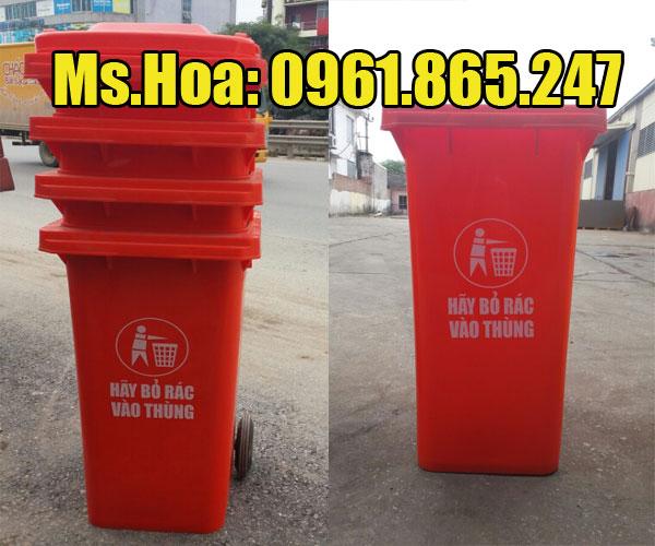 Giá thùng rác màu đỏ như thế nào?