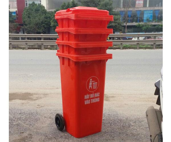 Thùng rác màu đỏ mua ở đâu