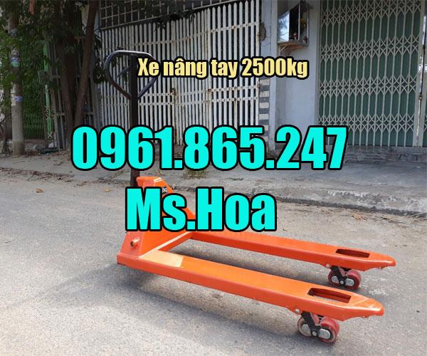 Báo giá xe nâng tay 2500kg