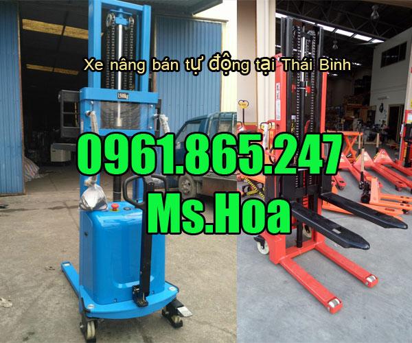 Xe nâng bán tự động tại Thái Bình