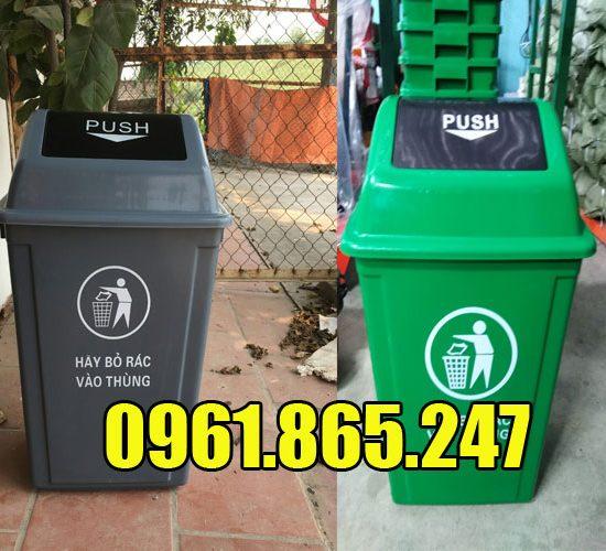 Thùng rác nắp bập bênh 60 lít